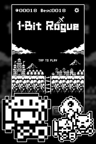 1-Bit Rogue: A dungeon crawler RPG! screenshot 1