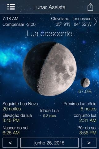Lunar Watch moon calendar screenshot 1