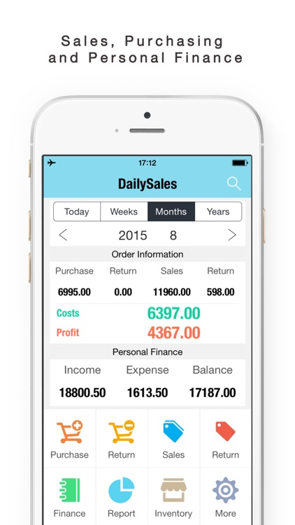 Daily Sales Tracker-Sales Items,Storage, Inventory by yongwen hu