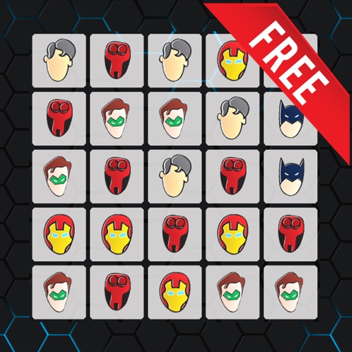 Cards Matchup and Merge images Comic Heroes Masks iOS App