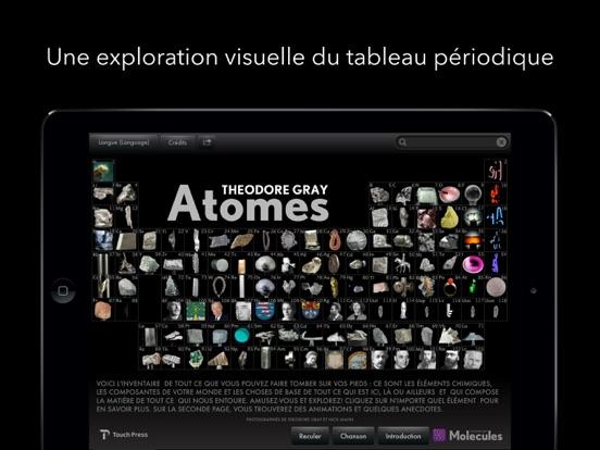 Atomes par theodore gray dans l app store for F tableau periodique