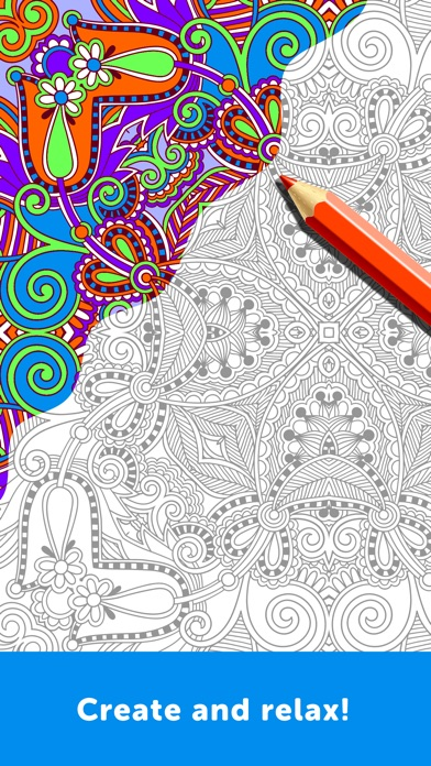 iphone screenshot 2 - Adults Coloring Books