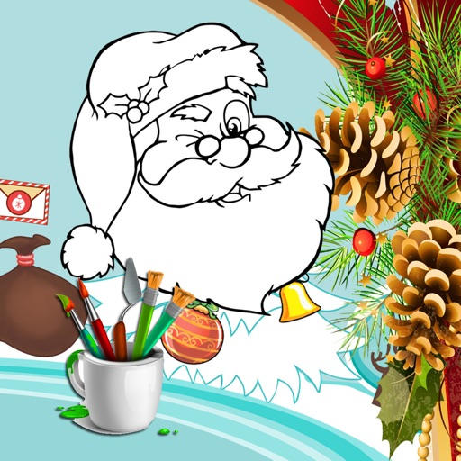 Christmas Santa Claus Coloring Book for Kids iOS App