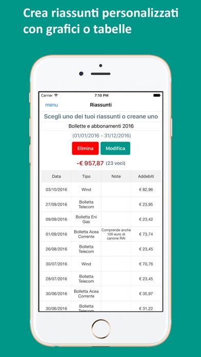 Bilancio familiare facile sull 39 app store - Voci bilancio familiare ...