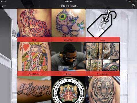 Screenshot of Blaq Lyte Tattoos