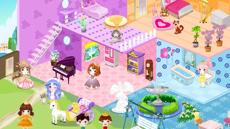 Real Princess Doll House Decoration Game