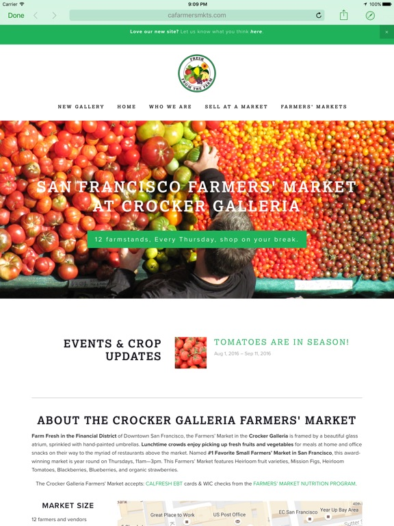 Screenshots for American Farmers Markets
