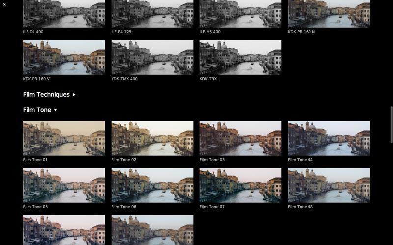 CameraBag Cinema Screenshots