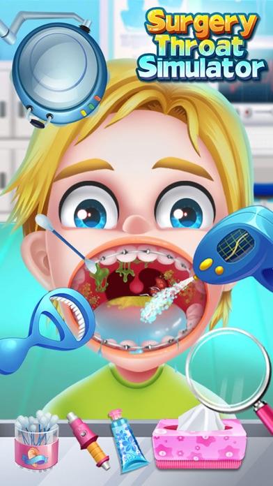喉の手術シミュレータ - 無料ドクターゲームのスクリーンショット2