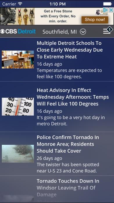 CBS Detroit WeatherScreenshot of 5