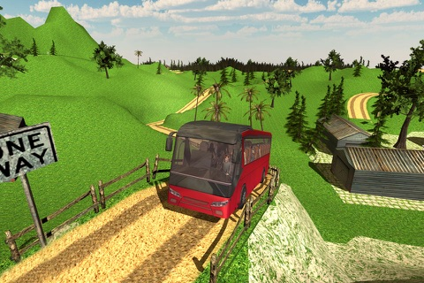Offroad Tourist Bus Driving Transport Simulator screenshot 2