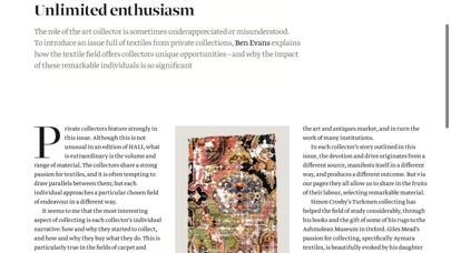 Hali Magazine review screenshots