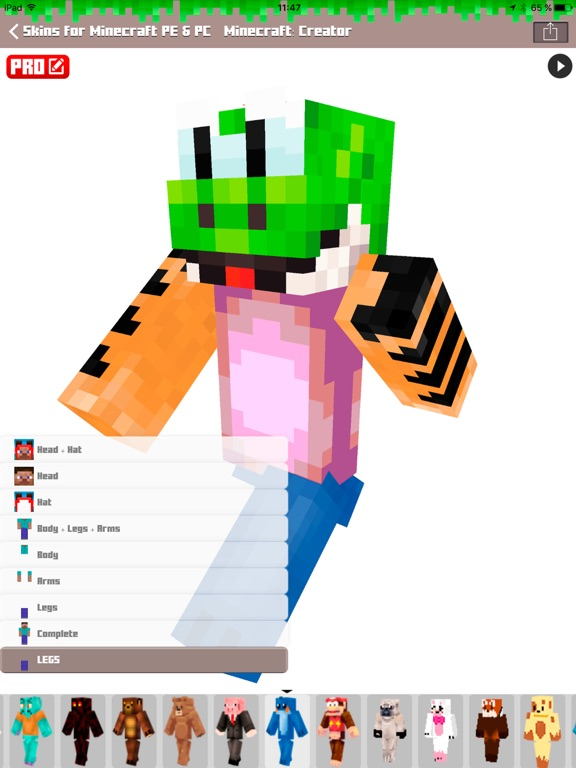 Skins for minecraft pe pc free skins on the app store ipad screenshot 4 sciox Images