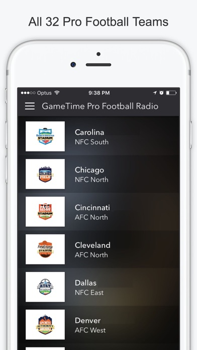 Gametime Football Radio Stream Live Nfl Games By Thanh Ho