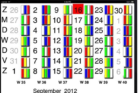 Kalender ploegendienst screenshot 1