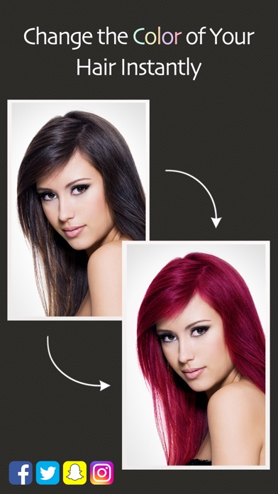 Приложение изменяющее цвет волос