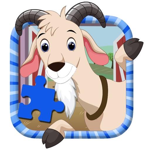 Secret Places Goat Simulator: Goat Simulator Farm Jigsaw Puzzle Kids Version