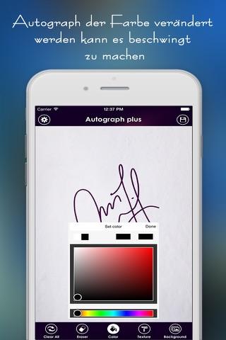 Autograph + screenshot 2