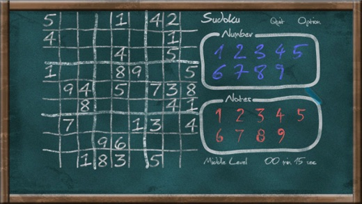 Sudoku on Chalkboard Screenshot