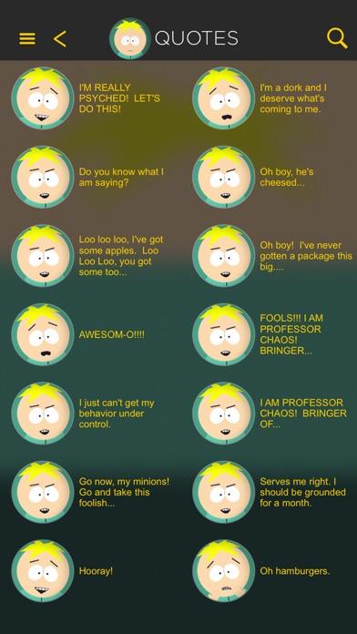 The Official South Park App Screenshots