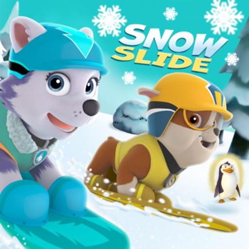Snow Dog Slide Game For Children iOS App
