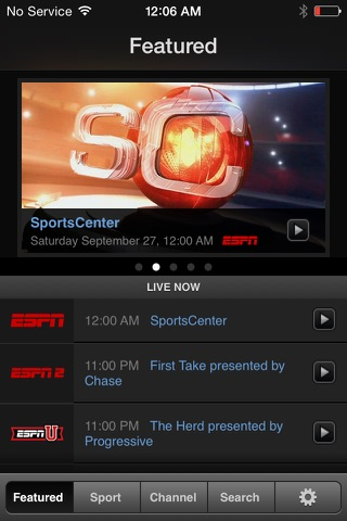 WatchESPN screenshot 1