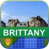 當前離線 法國布列塔尼 地圖 - World Offline Maps