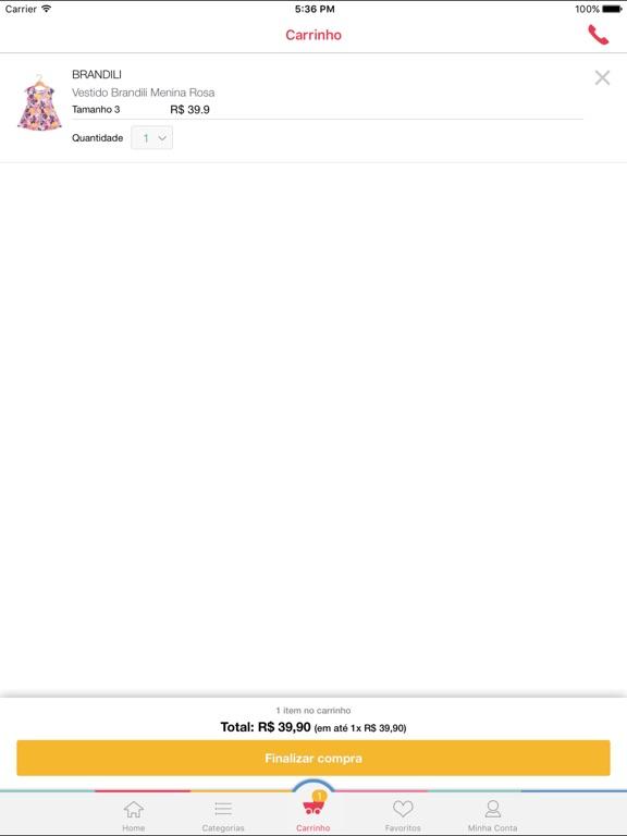 Tricae - Loja infantil online Screenshot