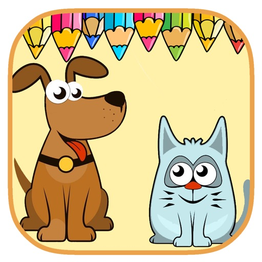 Free Coloring Book Game Pet For Kids Education iOS App