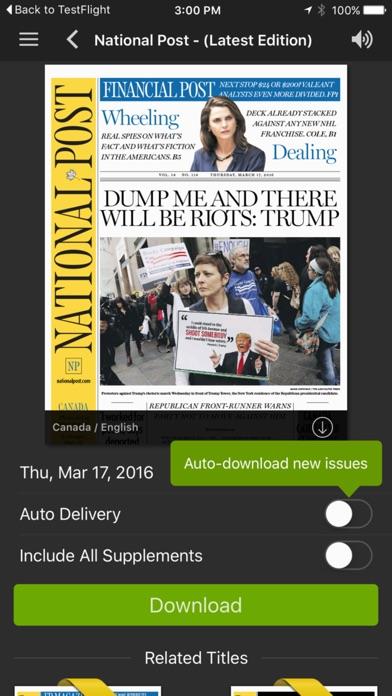 National Post Epaper review screenshots