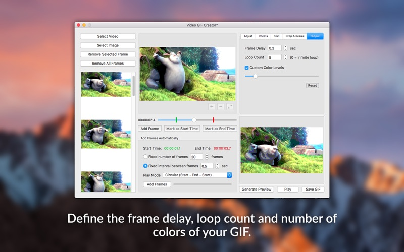 Video GIF Creator - Convert Video or Images to GIF Screenshots