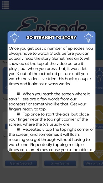 how to get free passes on episode android