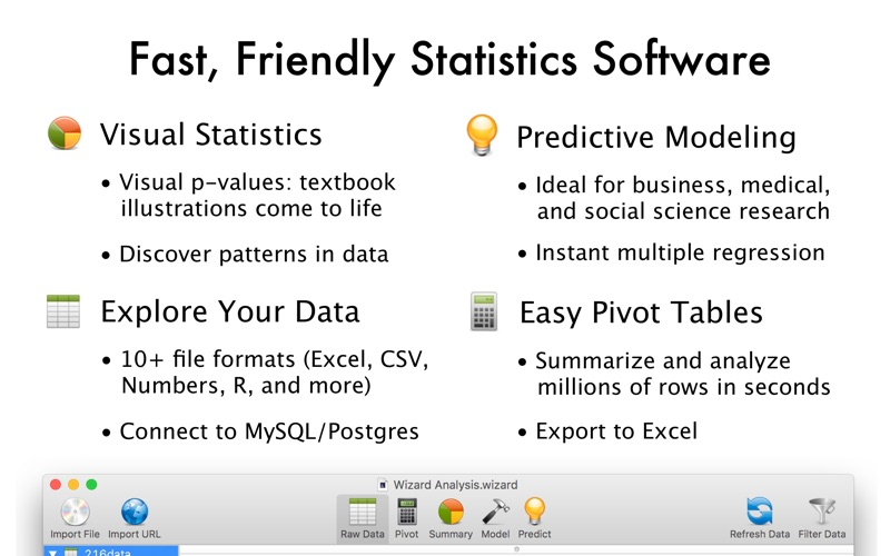 Screenshot #2 for Wizard - Statistics & Analysis