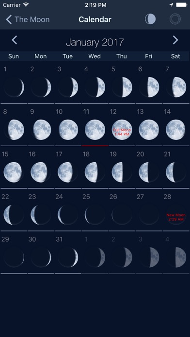 download The Moon - Calendar phase of Moon free apps 4