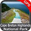 Cape Breton Highlands NP GPS charts Navigator