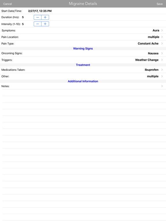 Migraine Log on the App Store