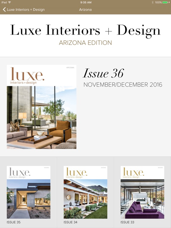 Luxe interiors design magazine app insight download for Luxe furniture and design