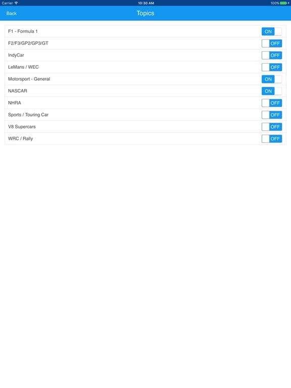 RaceReadr Screenshot