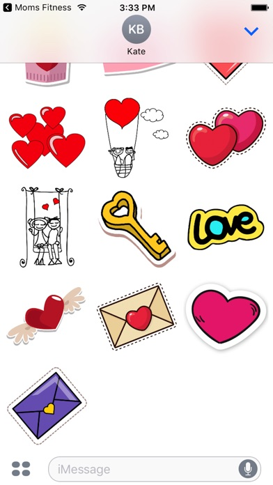 iphone screenshot 5 - Valentines Day Stickers