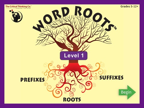 Word Roots Level 1 screenshot 1